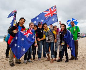 Australian pilgrims attending World Youth Day, Rio 2013