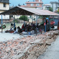 People excavating to open spaces in Kathmandu as of aftershocks from the earthquake continue Photograph credit: Caritas Australia