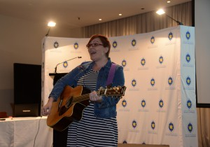 Musician Steph Unger got delegates and bishops communicating their voice through music