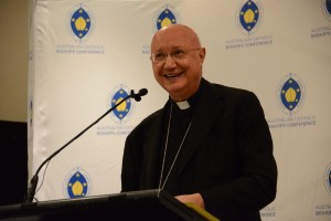 Archbishop Celli delivering the keynote address Photo credit: Fiona Basile