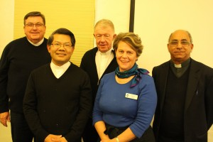 Members of the Bishops Commission for Pastoral Life with Executive Secretary, Mrs Alison Burt.