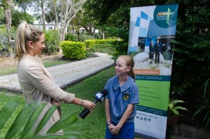 Brianna Sanderson, Year 6 student from Marian Catholic School is interviewed by WIN TV News about the encyclical Laudato Si'.