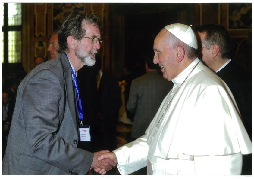 Dr Raymond Canning, Executive Secretary of the Bishops Commission for Ecumenism and Inter-religious Relations, meeting Pope Francis at the Vatican.