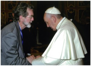 Dr Raymond Canning, Executive Secretary of the Bishops Commission for Ecumenism and Inter-religious Relations, meeting Pope Francis.