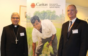 Archbishop Yllana, Apostolic Nuncio to Australia and Paul O'Callagahan, CEO of Caritas Australia.