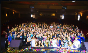 The largest single group booking of the entire festival - youth from the Lismore diocese