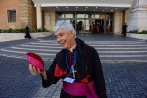 Bishop Hurley having a chuckle. Photo by Fiona Basile.