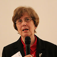 Dr Ruth Webber addressing delegates at the prison chaplains gathering in Sydney last month.