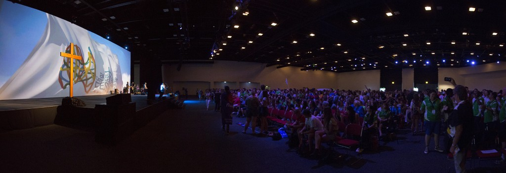 Plenary Panorama at the Australian Catholic Youth Festival 2015.