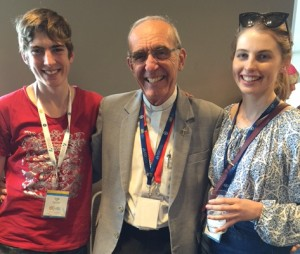 Bishop Bianchini and young people from the Diocese of Geraldton.