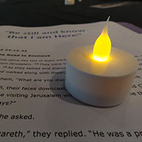 Candle and liturgy notes
