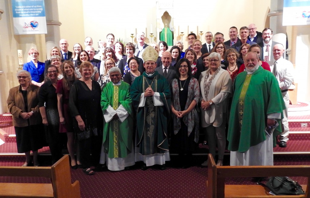 Delegates gathered at the ACPA conference Mass at Mary MacKillop Chapel, North Sydney.
