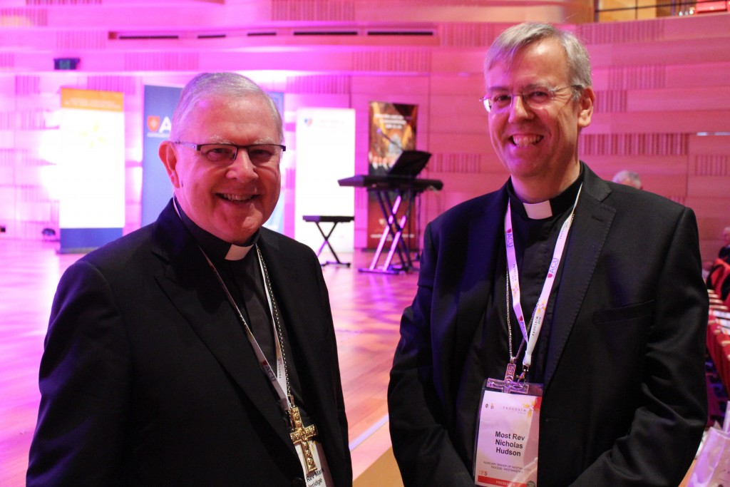 Archbishop Mark Coleridge, Chairman of the Bishops Commission for Evangelisation and Bishop Nicholas Hudson, Auxiliary Bishop of Westminster
