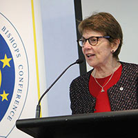 Sr Patty Fawkner SGS delivered a thoughtful and entertaining address at the launch of 'A Place at the Table:Social justice in an ageing society', the Australian Catholic Bishops annual Social Justice Statement 2016-17.