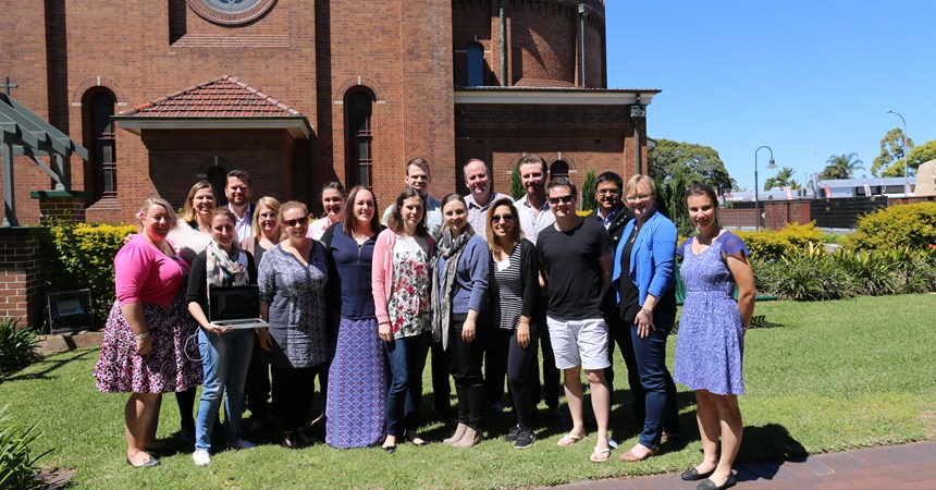 Diocesan Youth Ministers gathered with Gabrielle Sinclari and Malcolm Hart from the ACBC Office for Youth