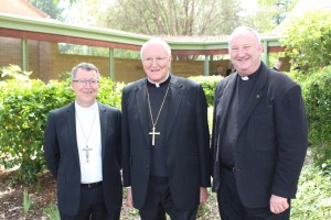 Bishop McKenna, Archbishop Hart and Fr Hackett.