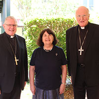 Archbishop Mark Coleridge, Sr Ruth Durick OSU and Archbishop Denis Hart.
