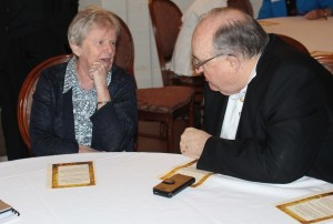 Sr Clare Condon SGS and Archbishop Philip Wilson