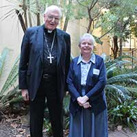 Archbishop Denis Hart and Sr Clare Condon SGS