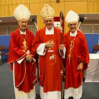 Emeritus Archbishop Barry Hickey, Bishop Michael Morrissey and Emeritus Bishop Justin Bianchini.