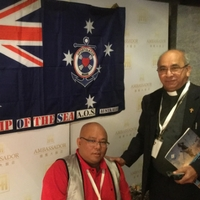 Bishop Bosco Puthur, Australian Catholic Bishops Conference Commission for Pastoral Life with Fr Roger Manalo CS , Interim National Director, Apostleship of The Sea Australia.